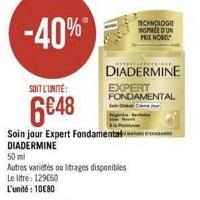 Crème Expert Diadermine chez Géant Casino (20/08 – 01/09)