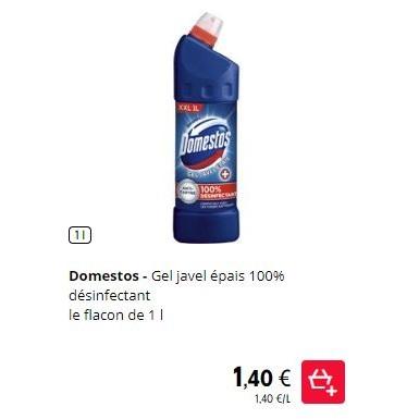 Domestos Gel Wc Javel chez Intermarché (01/08 – 31/08)