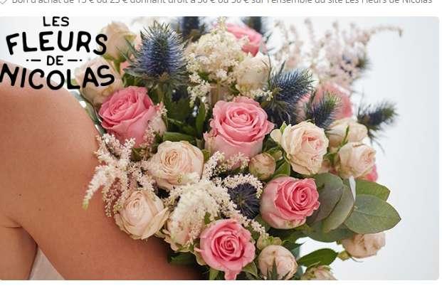 Fleurs de Nicolas  : bons d'achats à moitié prix