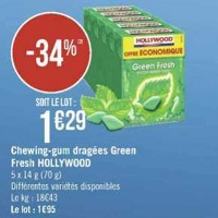 Chewing-Gum Hollywood chez Géant Casino (20/08 – 01/09)