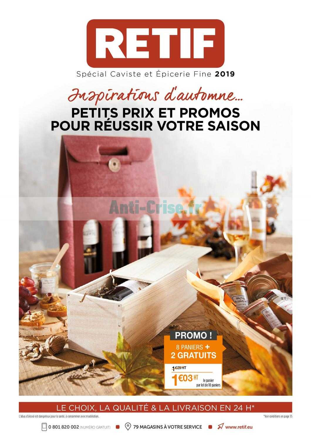 Catalogue Retif du 16 août au 05 octobre 2019 Catalogues