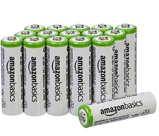 Moins de 19€ , le pack de 18 piles rechargeables AA 2000mah Amazon