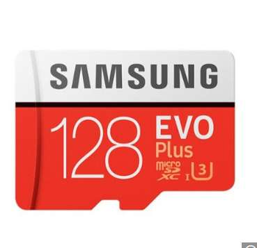 15.5€ la carte mémoire SAMSUNG EVO 128go micro sd