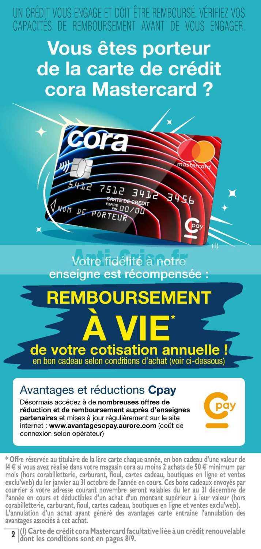Carte Cora Mastercard.Catalogue Cora Du 01 Au 30 Septembre 2019 Avantages Cartes