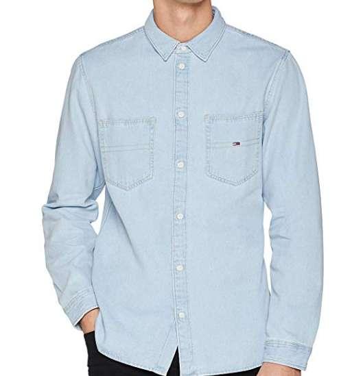 28€ la chemise en jeans Tommy  Hilfiger pour hommes