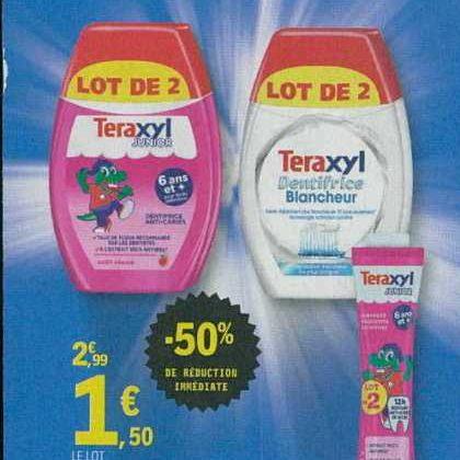 Dentifrice Teraxyl chez Leclerc IDF Nord (17/09 – 29/09)