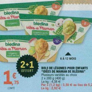 Bols Les Idées de Maman Blédina chez Leclerc Occitanie (17/09 – 28/09)