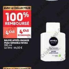 Baume après-rasage Nivea chez Leader Price (17/09 – 29/09)