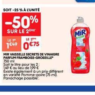 Liquide vaisselle Mir chez Leader Price (10/09 – 22/09)