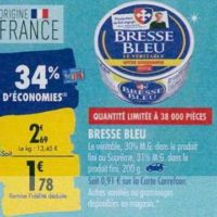Fromage Bresse Bleu chez Carrefour (23/09 – 30/09)