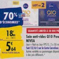Crème Q10 Nivea chez Carrefour (23/09 – 30/09)