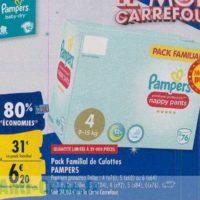 Culottes Premium Pampers chez Carrefour (23/09 – 30/09)