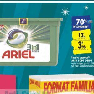 Lessive Ariel Pods 3en1 chez Carrefour (20/09 – 22/09)