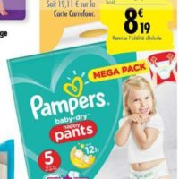 Culottes Baby-dry Pampers chez Carrefour (17/09 – 07/10)