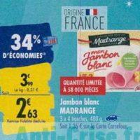 Jambon Madrange chez Carrefour (23/09 – 30/09)