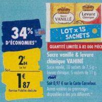 Sucre et Levure Vahiné chez Carrefour (23/09 – 30/09)