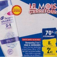 Shampoing Head & Shoulders chez Carrefour (23/09 – 30/09)