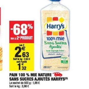 Pain de mie Harrys chez Carrefour Market (17/09 – 29/09)