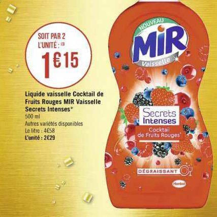 Liquide Vaisselle Mir chez Casino (17/09 – 29/09)