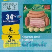 Choucroute Stoeffler chez Carrefour (23/09 – 30/09)