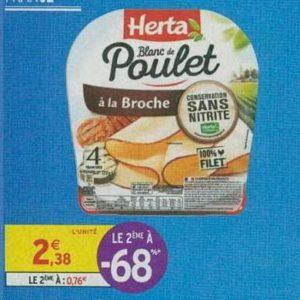 Blanc de Poulet Herta chez Intermarché (17/09 – 22/09)