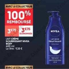Lait Crème Nivea chez Leader Price (17/09 – 29/09)