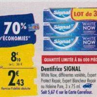 Dentifrice Signal chez Carrefour (23/09 – 30/09)