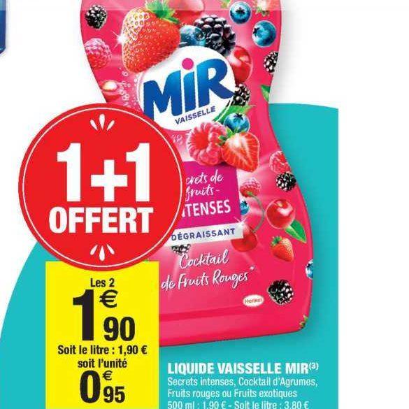 Liquide Vaisselle Mir chez Carrefour Market (03/09- 15/09)