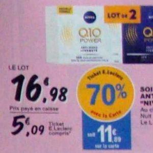 Crème Q10 Nivea chez Leclerc (10/09 – 21/09)