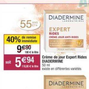 Crème Expert Rides Diadermine chez Cora (10/09 – 21/09)