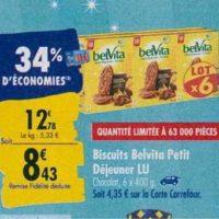 Biscuits Petit Déjeuner Belvita chez Carrefour (23/09 – 30/09)