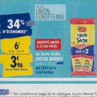 La Juste Sèche Justin Bridou chez Carrefour (23/09 – 30/09)