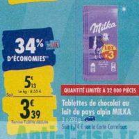 Tablettes de chocolat Milka chez Carrefour (23/09 – 30/09)