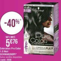 Coloration Pro Color Schwarzkopf chez Géant Casino (17/09- 29/09)