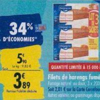 Harengs Fumés Delpierre chez Carrefour (23/09 – 30/09)