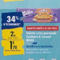 Tablette de chocolat Mmmax Milka chez Carrefour (23/09 – 30/09)