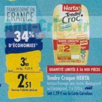 Tendre Croc' Herta chez Carrefour (23/09 – 30/09)