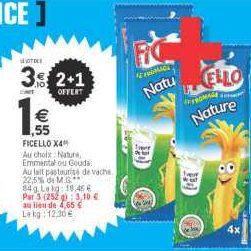 Fromage Enfant Ficello chez Leclerc Nord (16/09 – 21/09)