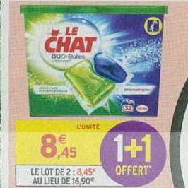 Lessive en Capsules Le Chat chez Intermarché (17/09 – 22/09)