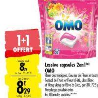 Lessive en capsules Omo chez Carrefour (10/09 – 23/09)