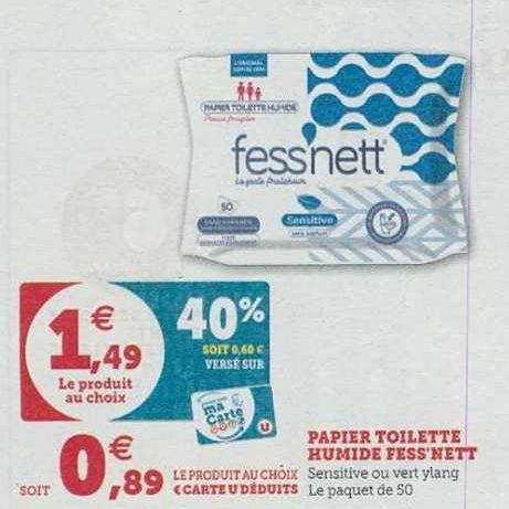 Papier Toilette Humide Fess'nett chez Hyper U (10/09- 21/09)