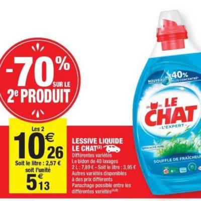 Lessive Liquide Le Chat chez Carrefour Market (10/09- 22/09)