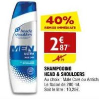 Shampoing Head & Shoulders chez Atac (25/09 – 30/09)