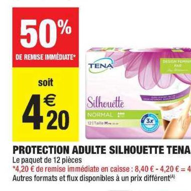 Culottes Silhouette Tena chez Carrefour Market (10/09- 22/09)