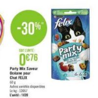 Friandises Party Mix Felix chez Géant Casino (24/09 – 06/10)