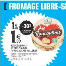 Fromage Roucoulons chez Leclerc Nord (16/09 – 21/09)