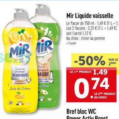 Liquide Vaisselle Mir chez Lidl (11/09- 17/09)