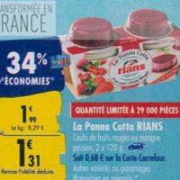 Panna Cotta Rians chez Carrefour (23/09 – 30/09)