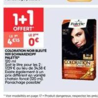 Coloration Palette chez Leader Price (17/09 – 29/09)