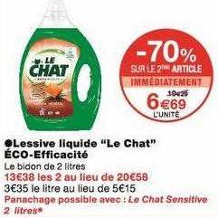 Lessive Liquide Le Chat chez Monoprix (13/09- 22/09)